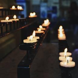 Świeca, modlitwa